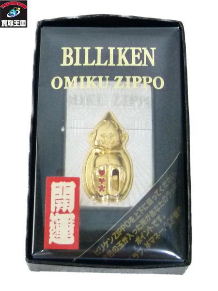 ビリケン ZIPPO 97年 メタル貼り【中古】