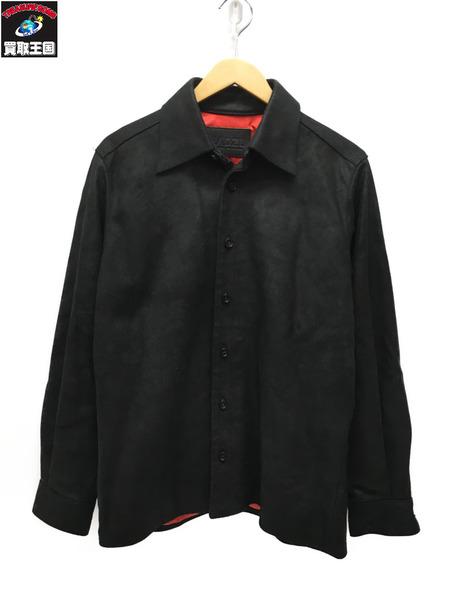 MADZU レザーシャツ 黒【中古】