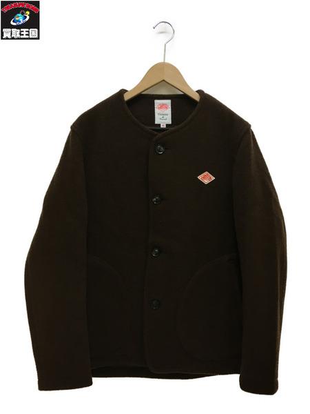 Danton ノーカラー/ウールモッサジャケット/BROWN(42)【中古】
