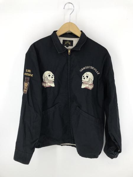 スーベニアジャケット GANGSTERVILLE ベトジャン 刺繍 ギャングスタービル L【中古】