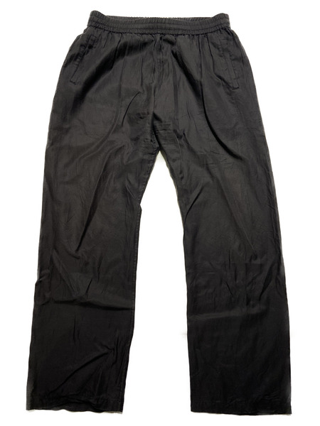 URU/Cotton cupra easy pants/2/ブラック【中古】