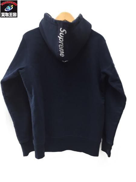 Supreme 14AW Logo Tape Zip Up Hoodie NAVY sizeS【中古】[値下]