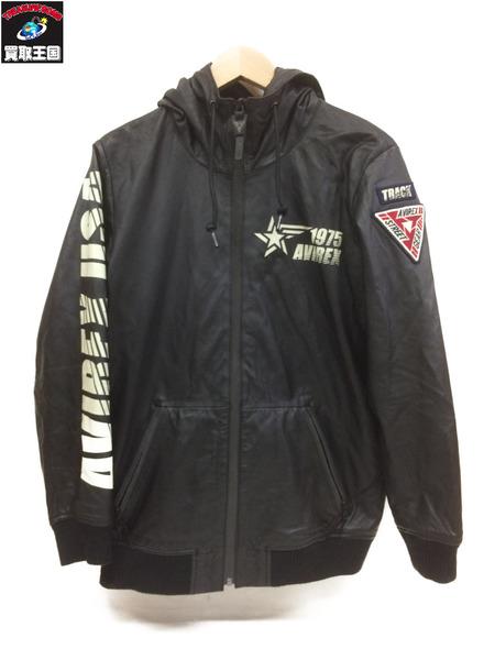 AVIREX 18awトラックライトウェイトシープレザー(F)黒【中古】[▼]