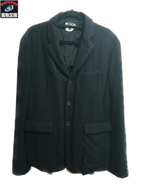 BLACK COMME des GARCONS ウールジャケット サイズL AD2014【中古】