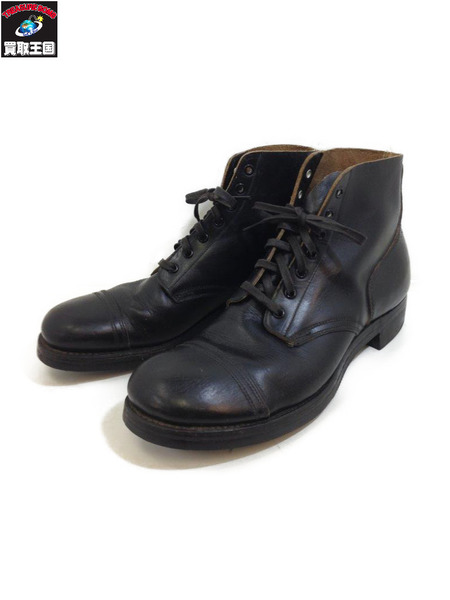 1940s~ Vintage キャップトゥー レザー ワークブーツ ブラック 11 1/2【中古】