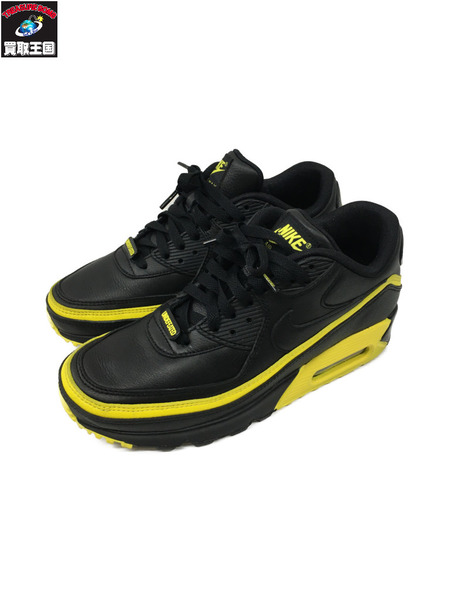 NIKE×UNDEFEATED AIR MAX 90 BLACK/OPTI YELLOW 25.0cm【中古】[▼]