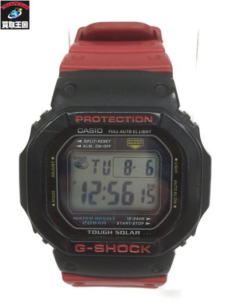 G-SHOCK G-5600 タフソーラー バイカラー デジタルウォッチ バンド赤/ベゼル黒【中古】