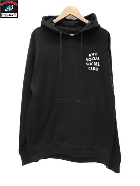 anti social social club アンチソーシャルソーシャルクラブ パーカー 韓国 (M) 黒【中古】[値下]
