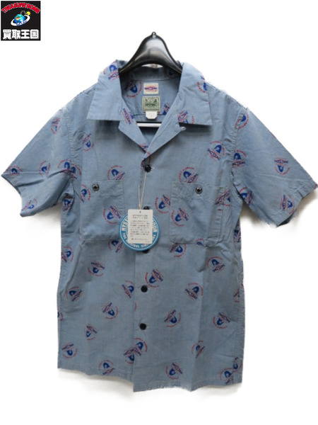 BIGYANK×HYSTERIC HG×BY LOGO総柄 オープンカラーシャツ (S)【中古】