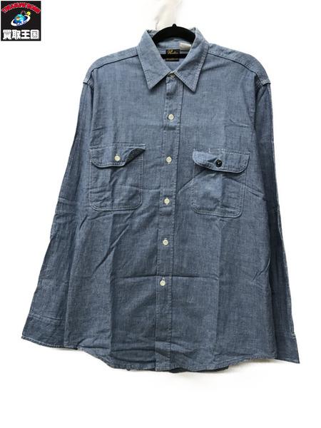 Prentiss プレンティス シャンブレーL/Sシャツ/M/ USA製【中古】
