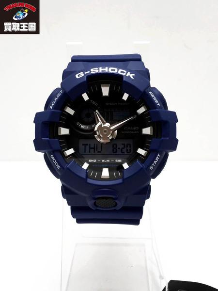 G-SHOCK GA-700 2ADR 腕時計 デジアナ 青【中古】