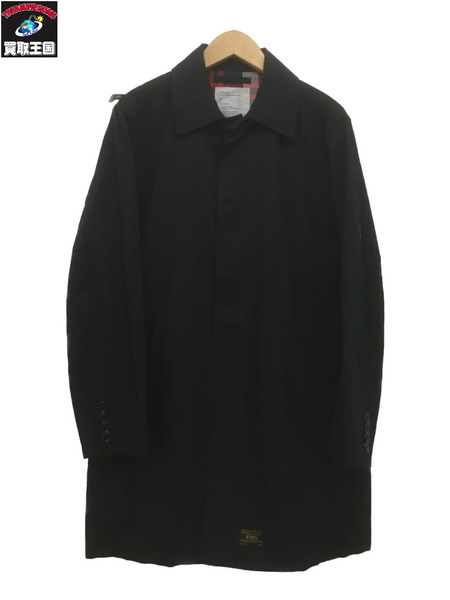 (W)TAPS ダブルタップス SOUTEINCOLOR COAT 紺 2【中古】[▼]