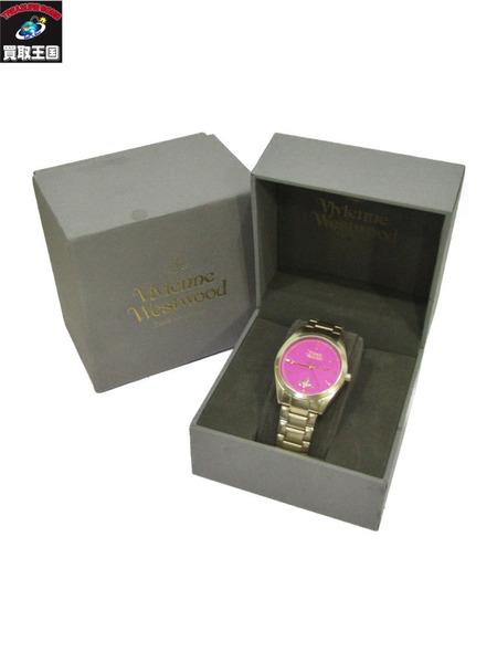 Vivienne Westwood 腕時計 ゴールド×ピンク ヴィヴィアンウエストウッド クォーツ【中古】
