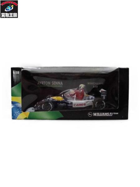ミニチャンプス 1/18 ウィリアムズ FW14 マンセル ライドオン セナ 1991 BRITSH GP JULY 14th【中古】