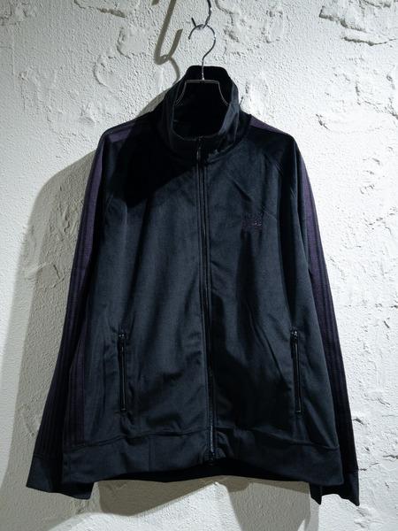 Needles/19AW/ベロアトラックジャケット/M/BLK【中古】