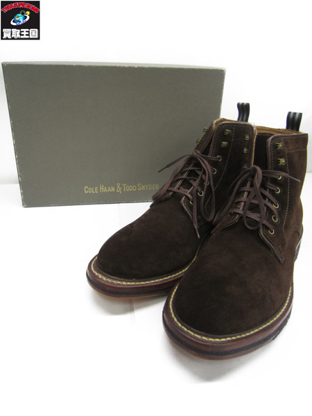 COLE HAAN TODD SNYDER BRYLING LACE BOOT ブラウン SIZE:8.5【中古】