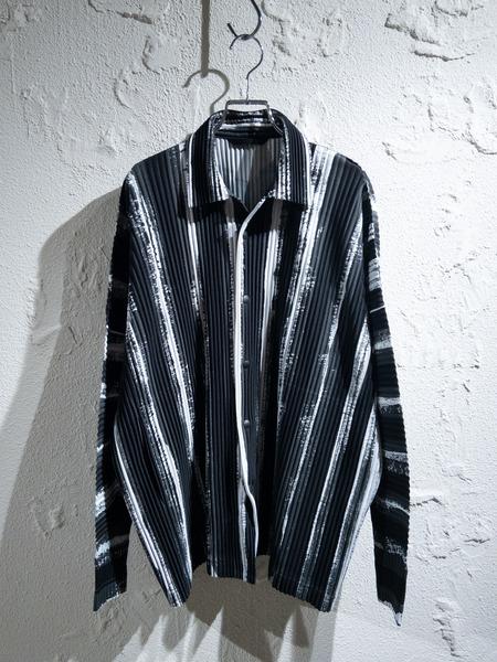 HOMME PLISSE/19AW/プリーツシャツジャケット/2/ISSEY MIYAKE【中古】