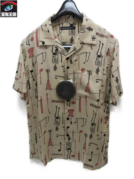 HYSTERIC GLAMOUR THE FUZZ総柄 半袖オープンカラーシャツ (S)【中古】