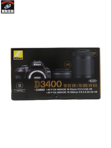 Nikon D3400 18-55VR+70-300VR Kit ダブルズームキット【中古】