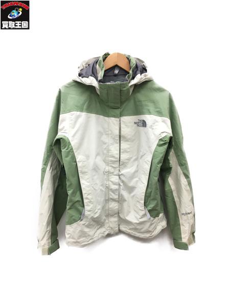 THE NORTH FACE ザ・ノース・フェイス HYVENT RAIN PARKA (WOMENS M) 緑×白【中古】