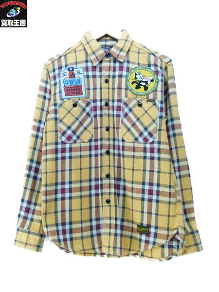 TOYS McCOY'S フィリックス ネルシャツ 14【中古】