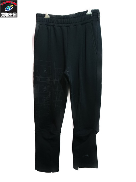 A-COLD-WALL 20SS BLUEPRINT PANT BLACK/スウェットパンツ (S) 黒【中古】