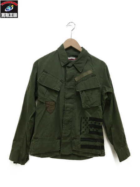 U.S.ARMY/米軍/VINTAGE/ヴィンテージ/60s/60年代/4th型 ジャングルファティーグJKT (XS-R)【中古】
