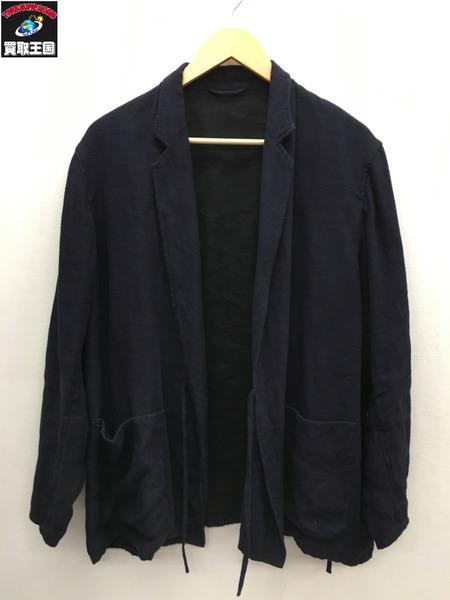 COMOLI リネン ジャケット 18SS 紺 2【中古】