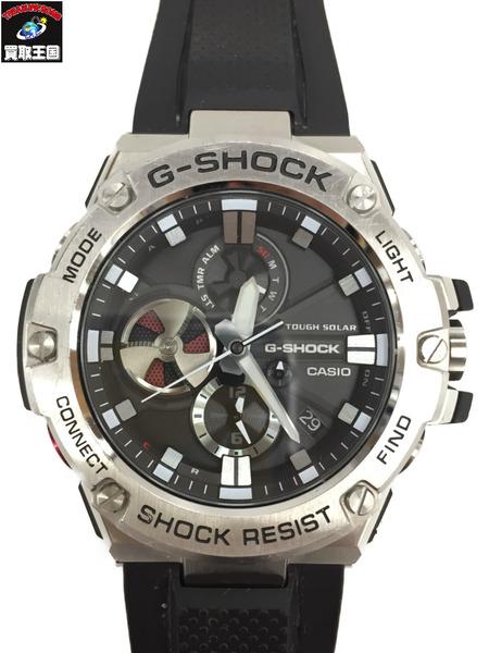 G-SHOCK GST-B100-1AJF G-STEEL スマートフォンリンク タフソーラー シルバー×黒【中古】[▼]