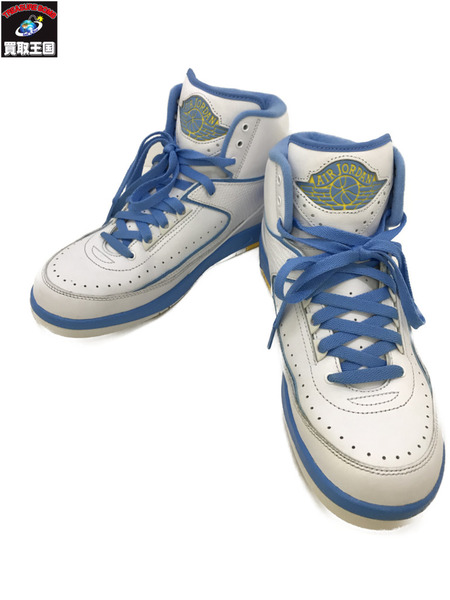 NIKE ナイキ AIR JORDAN 2 RETRO Melo UNIVERSITY BLUE 27.0cm【中古】[▼]