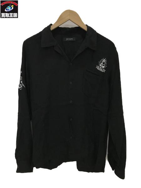RUDE GALLERY マリアプリントレーヨンシャツ (3) ブラック【中古】