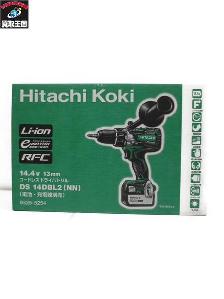 HITACH コードレスドライバドリル/DS 14DBL2/13mm/14.4V 【中古】[値下]