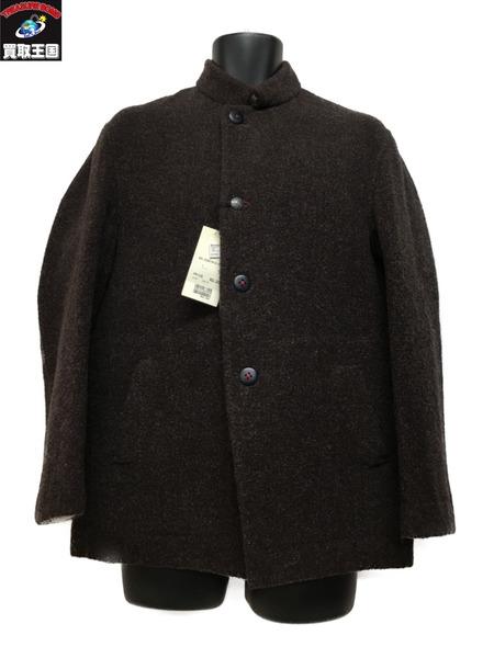 45R ウール コンチョ スタンドカラージャケット ブラウン (3)【中古】