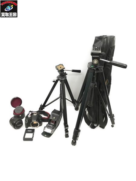 【ジャンク】Canon EOS kiss X3/DS126231 ※三脚、フラッシュセット【中古】[値下]