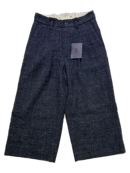 URU/2 TUCK WIDE PANTS/1/ネイビー【中古】