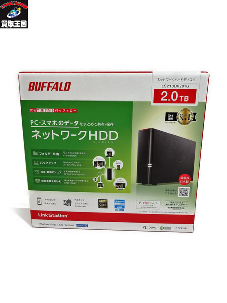 BUFFALO LS210D0201G 2.0TB【中古】[▼]
