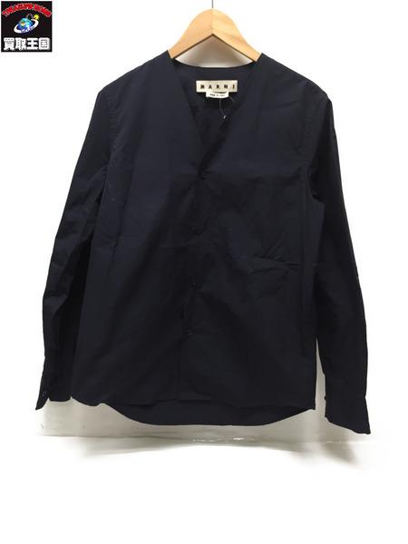 MARNI シャツ 44 ネイビー 16AW【中古】