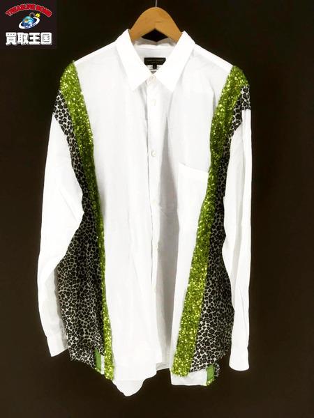 リアル COMME des GARCONS HOMME PLUS 18SS disco期 スパンコール レオパードシャツ【】[▼], ポンコタンオンライン caa435fd