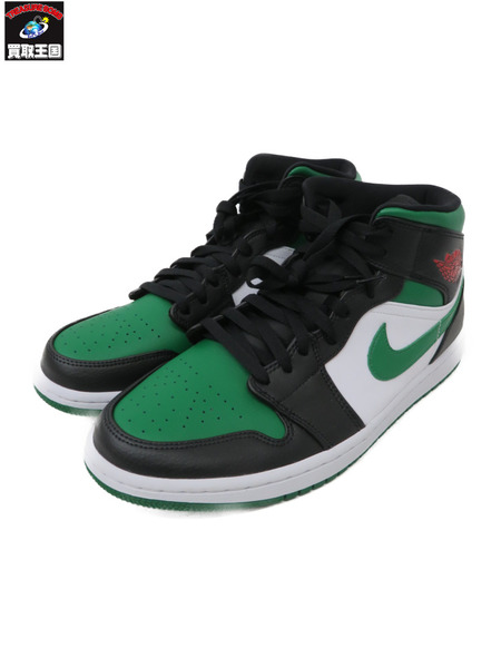 NIKE AIR JORDAN 1 MID BLACK/PINE GREEN (29.5) 554724-067 【中古】
