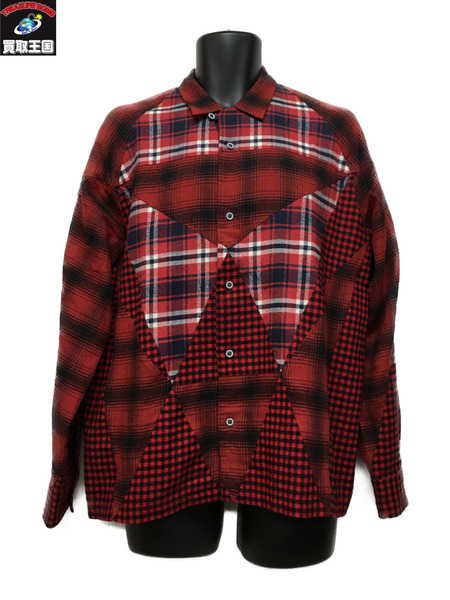 ANREALAGE 18-19AW/PRISM PATCHWORK SHIRT  (46)【中古】