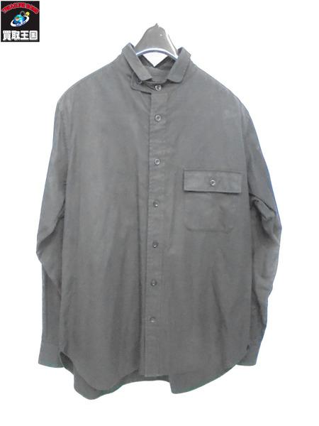 Yohji Yamamoto POUR HOMME チンストラップ付きシャツ サイズ3【中古】