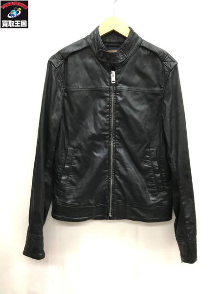 DIESEL/ディーゼル/樹脂コーティング/ライダースジャケット/ブラック/黒/S/【中古】