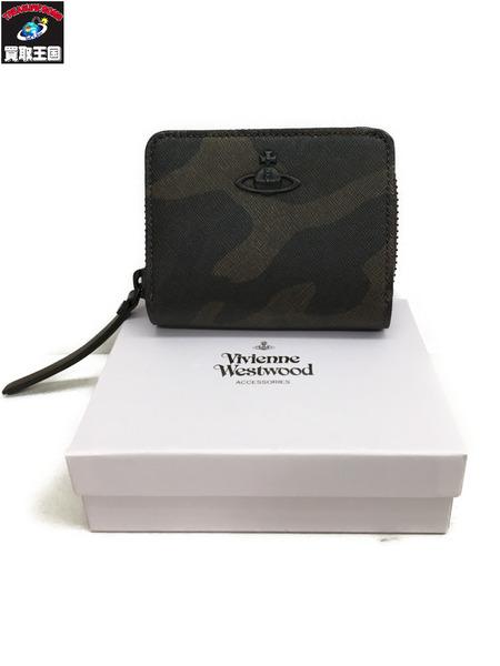 5f856613c341 Vivienne Westwood/ヴィヴィアンウエストウッド/カモ柄 二つ折り財布【中古】