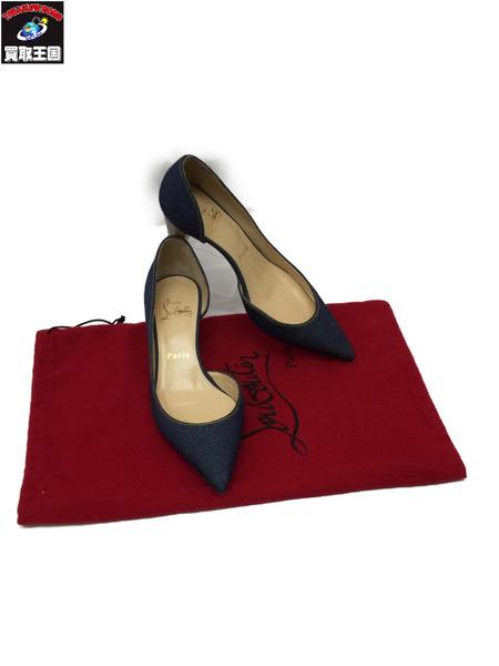 Christian Louboutin パンプス デニム Size35 1/2 クリスチャン ルブタン ヒール ブランド靴 ブランドパンプス 【中古】[▼]