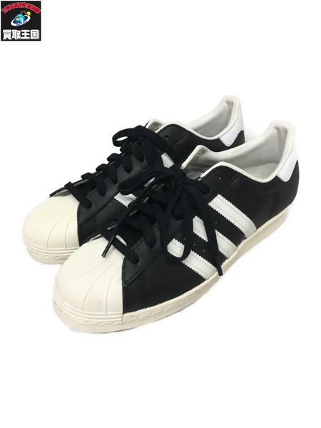 adidas SUPER STAR 80S(26.5)黒白 G61069【中古】