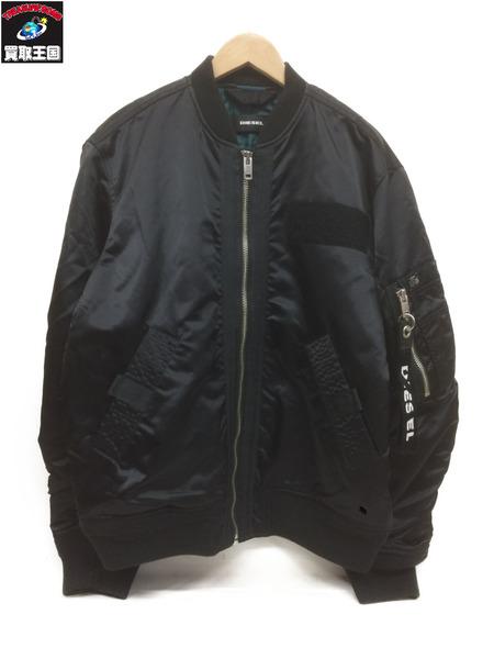 DIESEL MA-1ボンバージャケット(L相当)黒【中古】[▼]