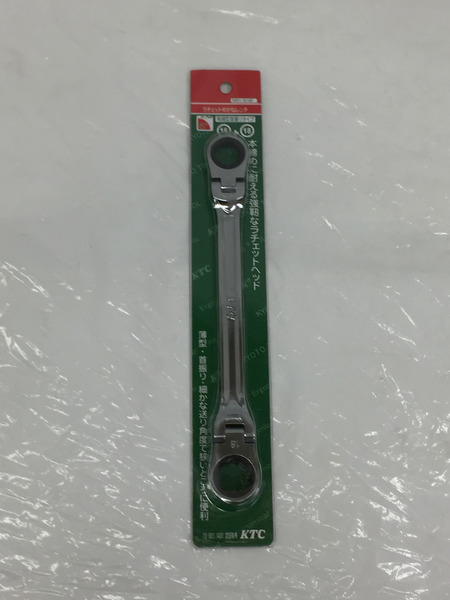 未使用 KTC ラチェットメガネレンチ MR1-1618F【中古】