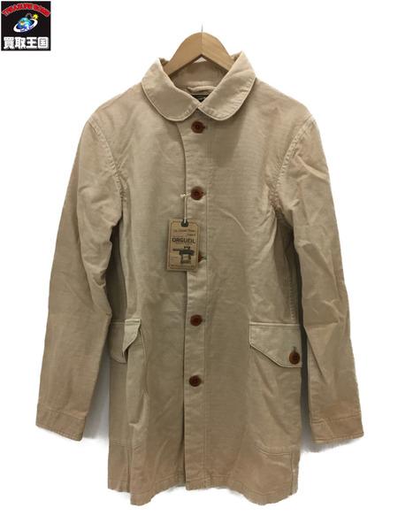 ORGUEIL コットンリネン スタンドカラージャケット (38) ベージュ【中古】