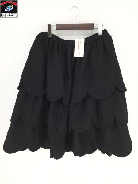 COMME des GARCONS GIRL ウール地レイヤードスカート(S)【中古】