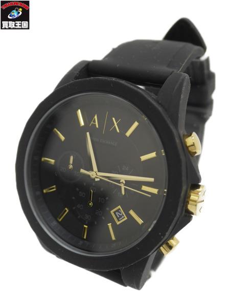 ARMANI EXCHANGE アルマーニ OUTERBANKS クロノグラフ クォーツ腕時計【中古】